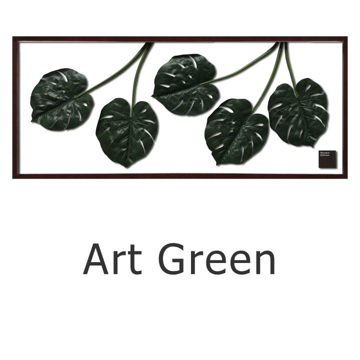 ウォールディスプレイ リーフ送料無料 エフスタイルフレーム/Monstera deliciosu/Elephant leaf/Elaeis guineensis/Monstera deliciosu.Black