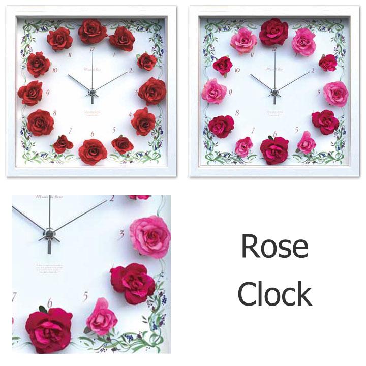 時計 結婚祝いディスプレイクロック/Rose Clockインテリア 楽ギフ_包装