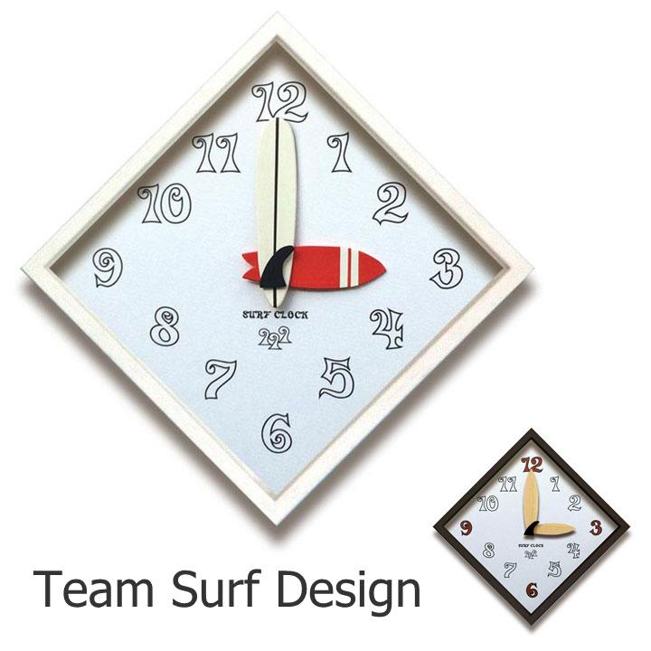掛け時計Team Surf Design Clock/サーフクロック結婚祝い インテリア 楽ギフ_包装