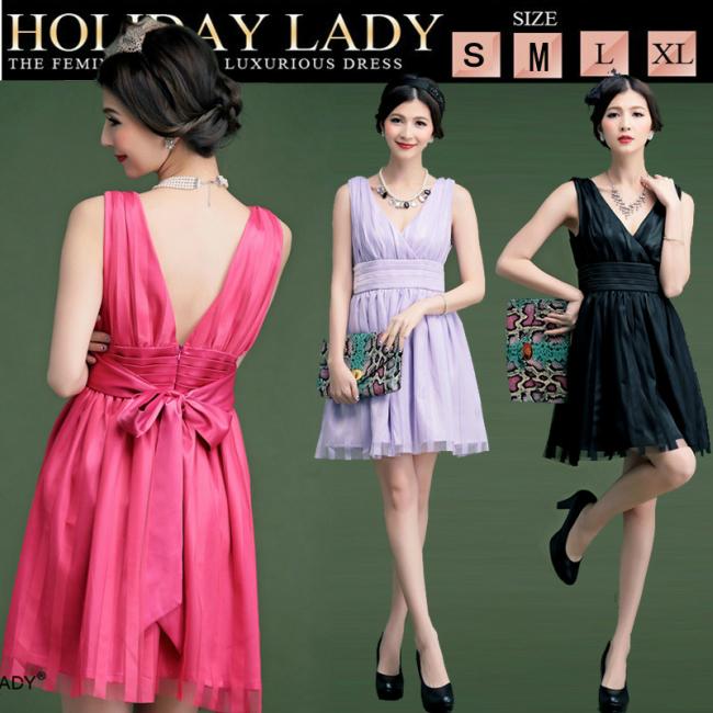 fa0ffe5507b67 あす楽SMLXLブラックパープルローズピンク大きいサイズドレスセクシードレスふわふわドレスAライン