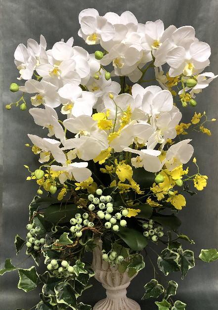 クララ・ コチョウラン5本立ち【送料無料】【アーティフィシャルフラワー】