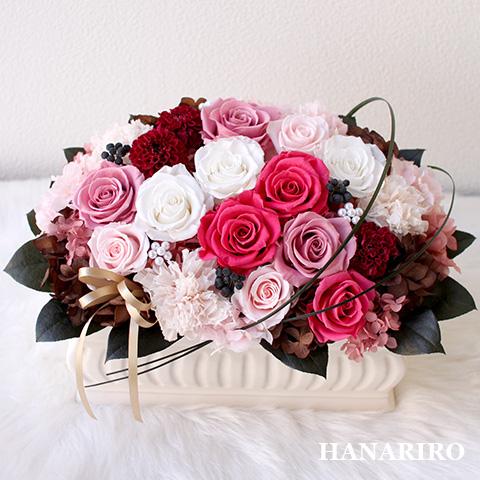 【チェリー】 プリザーブドフラワー お祝い 出産祝い 退職祝い 還暦祝い 開業祝い 法人 ピンク 誕生日祝い ギフト 送料無料 プレゼント 花 贈り物 ブリザードフラワ- お花 プリザ