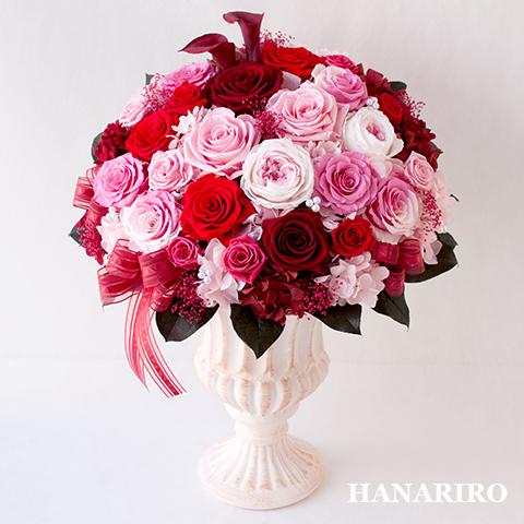 【華(はな)】 プリザーブドフラワー お祝い 結婚記念日 出産祝い 開業祝い 法人 開店祝い ピンク 誕生日祝い ギフト 送料無料 プレゼント 花 贈り物 ブリザードフラワ- お花 プリザ