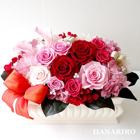 【桃花(ももか)】 プリザーブドフラワー お祝い 結婚記念日 退職祝い 還暦祝い 開業祝い 法人 ピンク 誕生日祝い ギフト 送料無料 プレゼント 花 贈り物 ブリザードフラワ- お花 プリザ