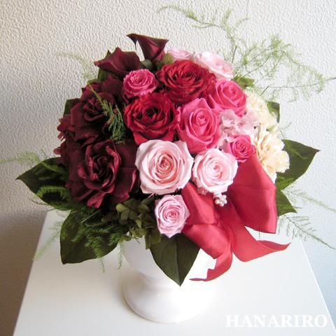 【スカーレット】 プリザーブドフラワー お祝い 結婚祝い 結婚記念日 還暦祝い その他記念日 開業祝い 法人 開店祝い 赤 ピンク 誕生日祝い ギフト 送料無料 プレゼント 花 贈り物 ブリザードフラワ- お花 プリザ