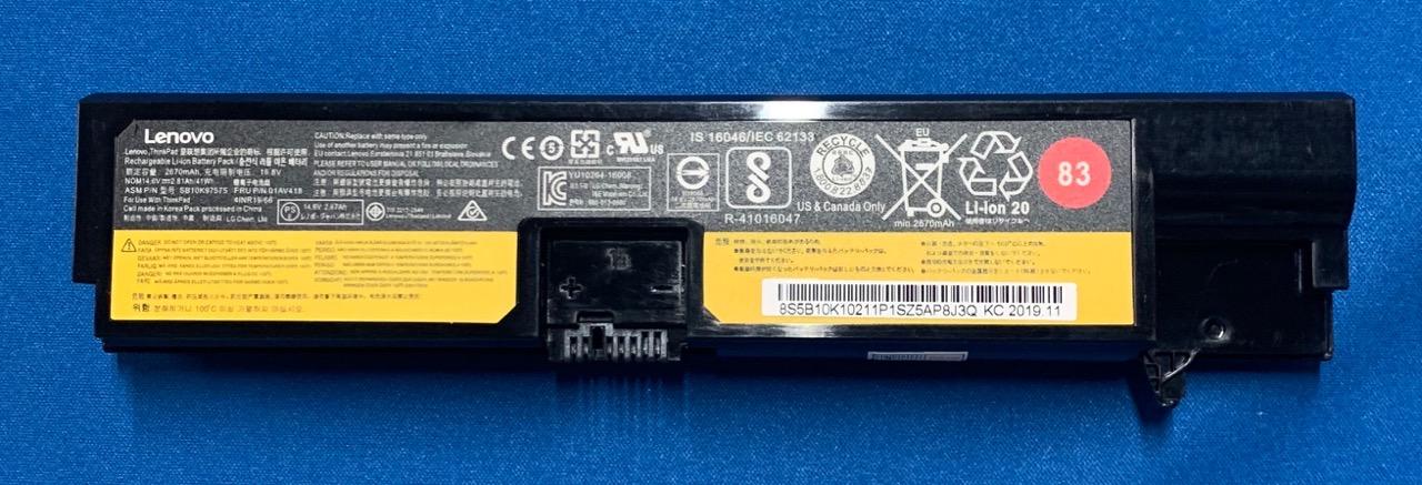純正新品 LENOVO ThinkPad E570 01AV418 全国一律送料無料 人気海外一番 バッテリー E575等用