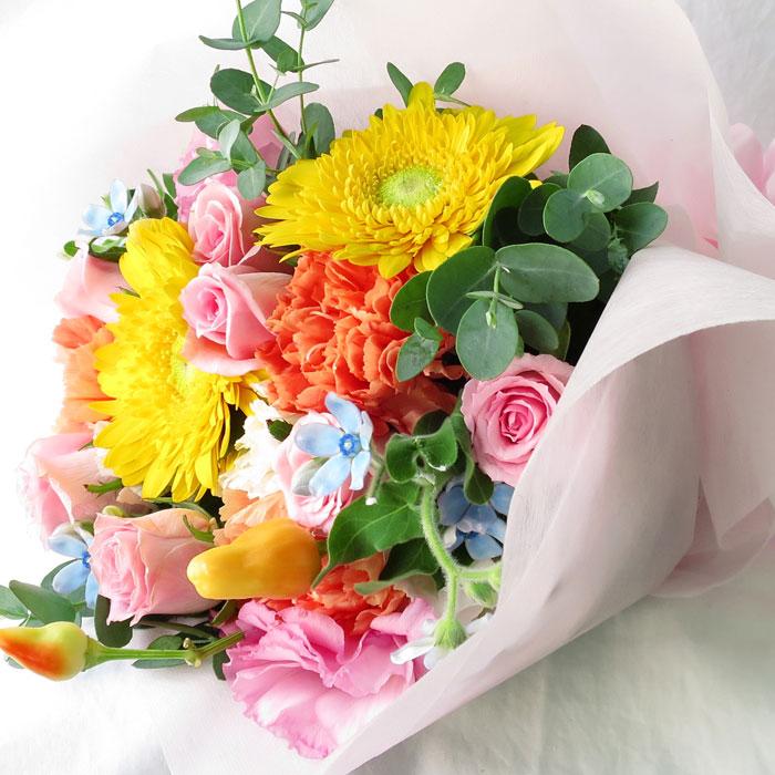 新色追加 花束 花 あす楽 ギフト 生花 フラワー 送料無料 女性 送料無料でお届けします 誕生日 女友達 プレゼント 誕生日プレゼント お祝い