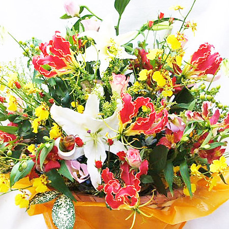 フラワーアレンジメント 花 誕生日 送別会 歓迎会 アレンジメントフラワー ボリューム ギフト