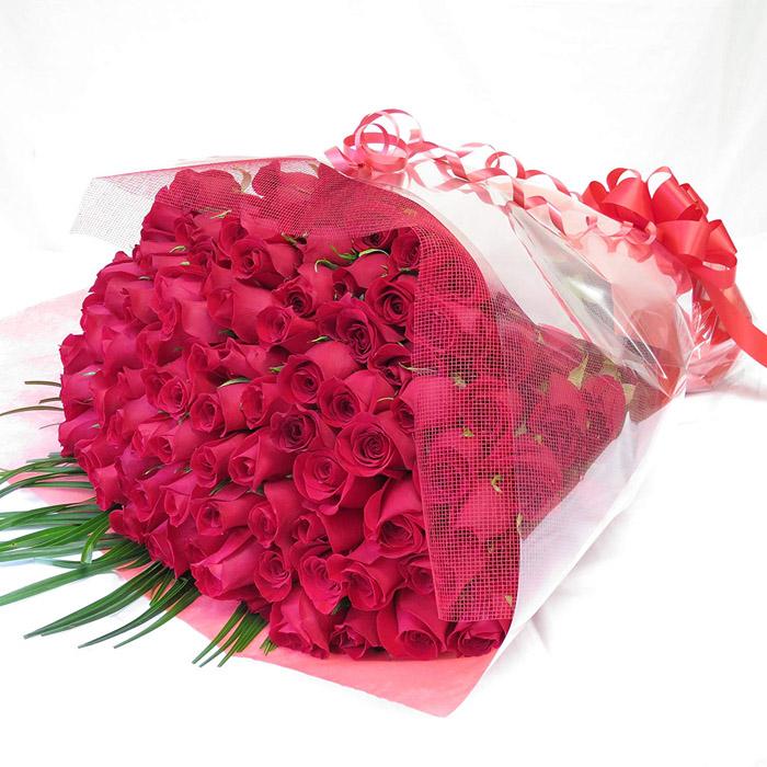 Hanashinwa 100 Roses Bouquet Flowers Birthday Gifts Women Presents