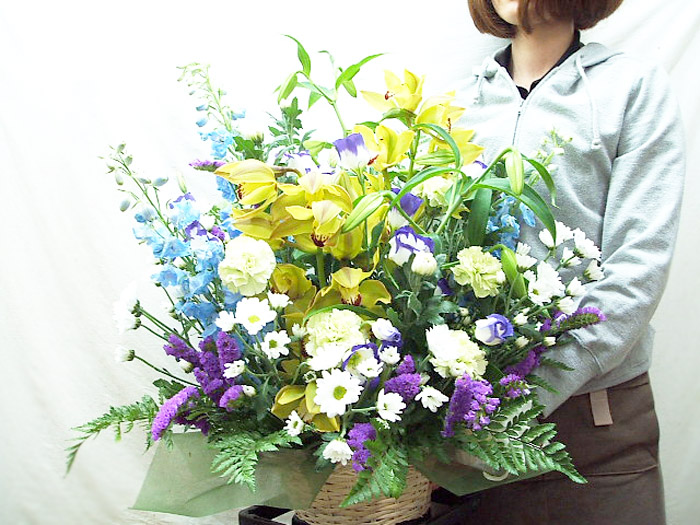 お供え 花 お悔やみ アレンジメント お悔み 花 供花 お供え物 生花 お供え フラワーアレンジメント