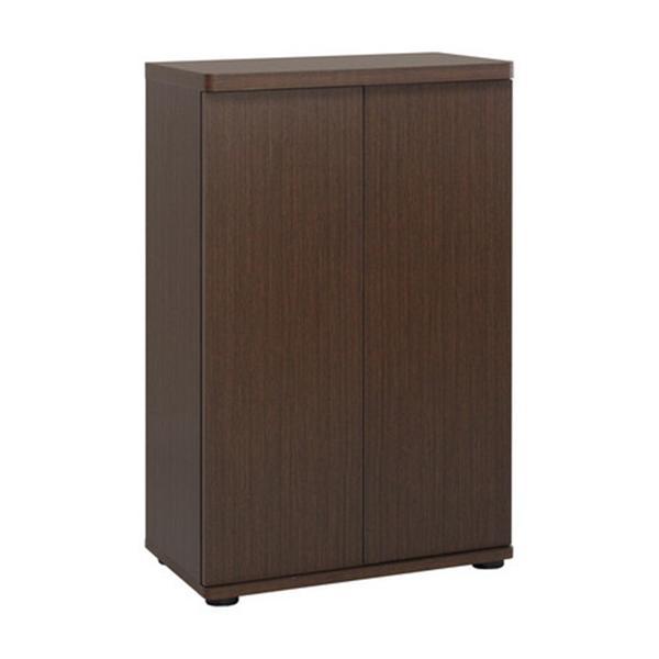 木製扉シューズボックス:ブラウン