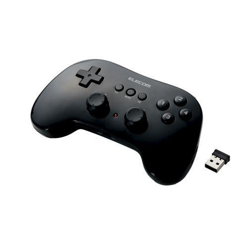 エレコム 小型軽量ワイヤレスゲームパッド JC-U3912TBK