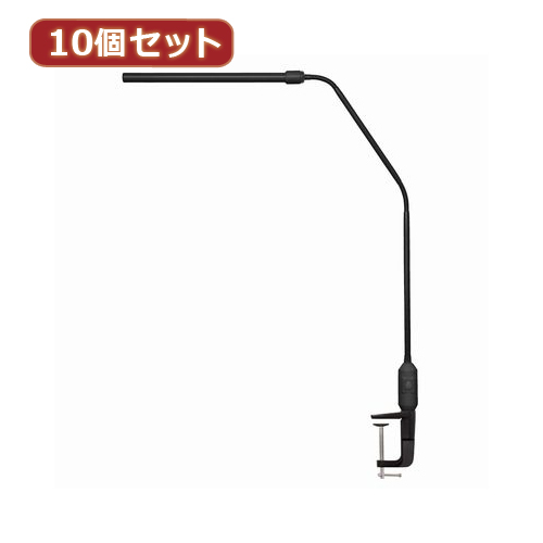 YAZAWA 10個セット 白色LEDフレキシブルクランプライトBK CCLE03N01BKX10