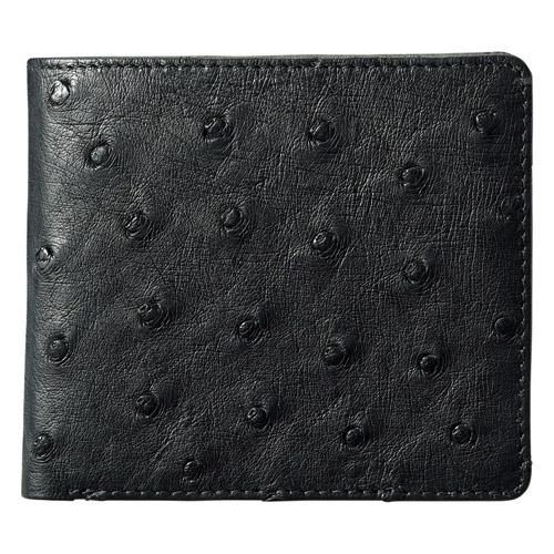 紳士用オーストリッチ財布 ブラック K91108819