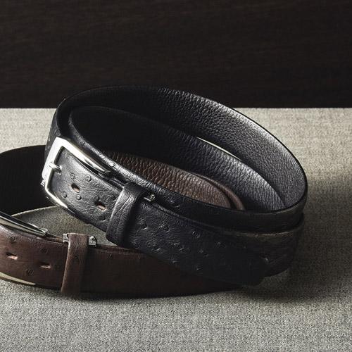 オーストリッチ ベルト ブラック K91208854