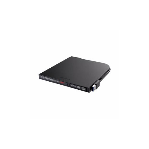 BUFFALO バッファロー BRUHD-PU3-BK Ultra HD Blu-ray対応 USB3.0用ポータブルブルーレイドライブ スリムタイプ ブラック BRUHD-PU3-BK