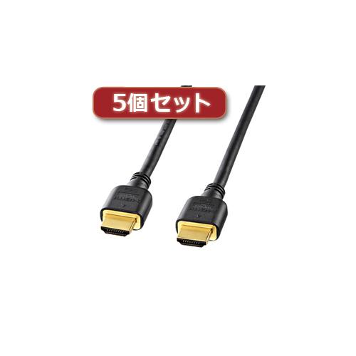5個セット サンワサプライ ハイスピードHDMIケーブル KM-HD20-20HX5