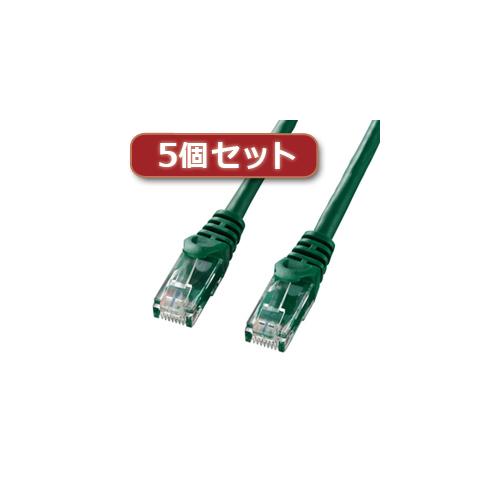 サンワサプライ 5個セット カテゴリ6UTPLANケーブル 品質検査済 売れ筋 LA-Y6-15GX5