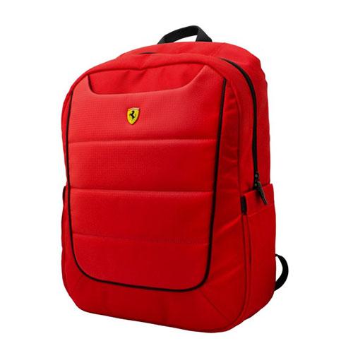 Ferrari 公式ライセンス品 15インチノートパソコン用リュック レッド FEBP15RE