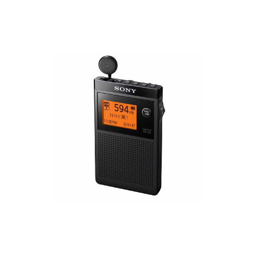 ソニー FMステレオ/AM 名刺型ラジオ ブラック SRF-R356