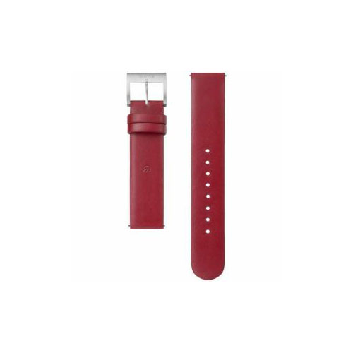 ソニー 電子マネー機能搭載替えバンド カーフ革 「wena wrist leather」(18-18mm・ワインレッド) WC-18E0N-R