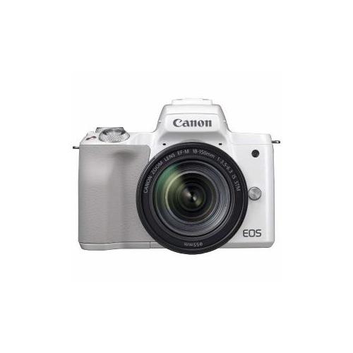 CANON ミラーレス一眼カメラ 「EOS Kiss M」 EF-M18-150 IS STM レンズキット (ホワイト) EOSKISSMWH-18150ISST