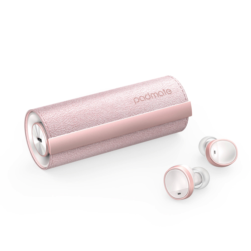 Padmate 完全ワイヤレスイヤホン PaMuScroll Plus Sakura +ワイヤレス充電レシーバー PM16549