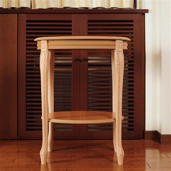 【イタリア製家具】木製花台/コンソール(ナチュラル/無塗装)609SS