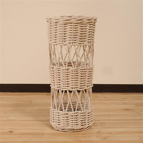 【ラタン家具】ラタン 傘立て ホワイト IKW/01W