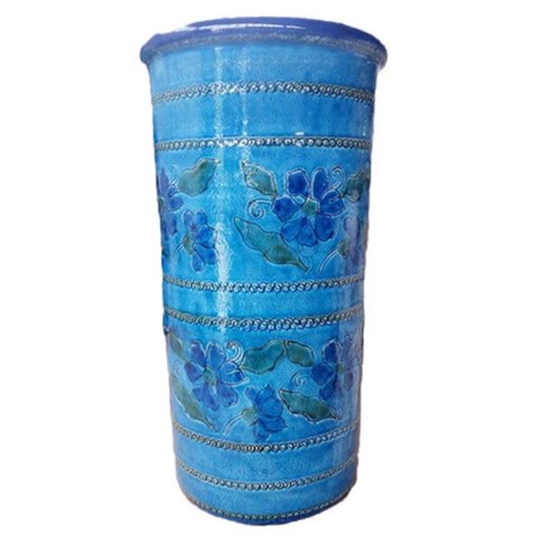 【イタリア製】【イタリア製】 陶器かさ立て ストレート 青地 花柄2