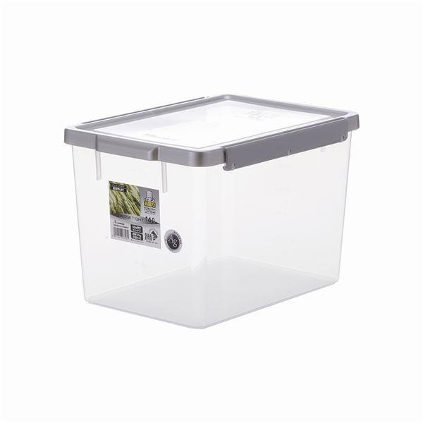 【12セット】 保存容器/キッチン用品 【TW-140 】 シルバー アップロック式 シリコンパッキン付き 『パッセタイト』【代引不可】