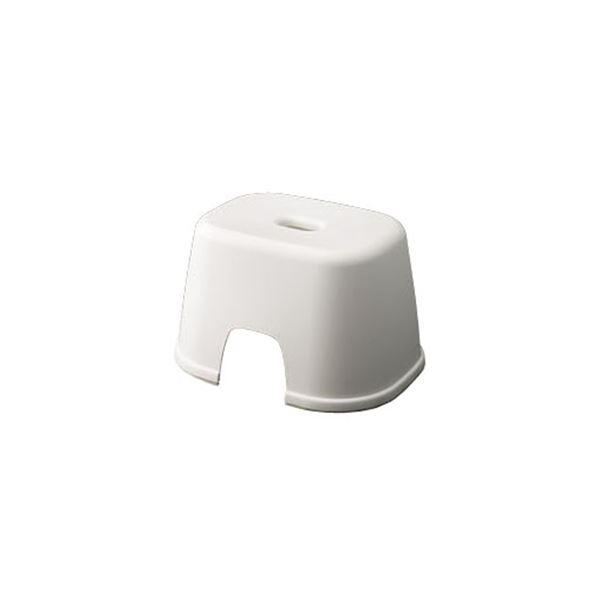 【20セット】 シンプル バスチェア/風呂椅子 【200 ホワイト】 すべり止め付き 材質:PP 『HOME&HOME』【代引不可】