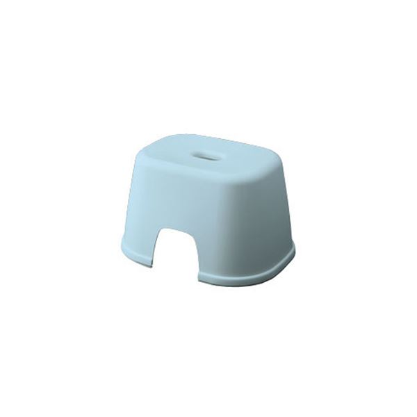 【20セット】 シンプル バスチェア/風呂椅子 【200 ブルー】 すべり止め付き 材質:PP 『HOME&HOME』【代引不可】