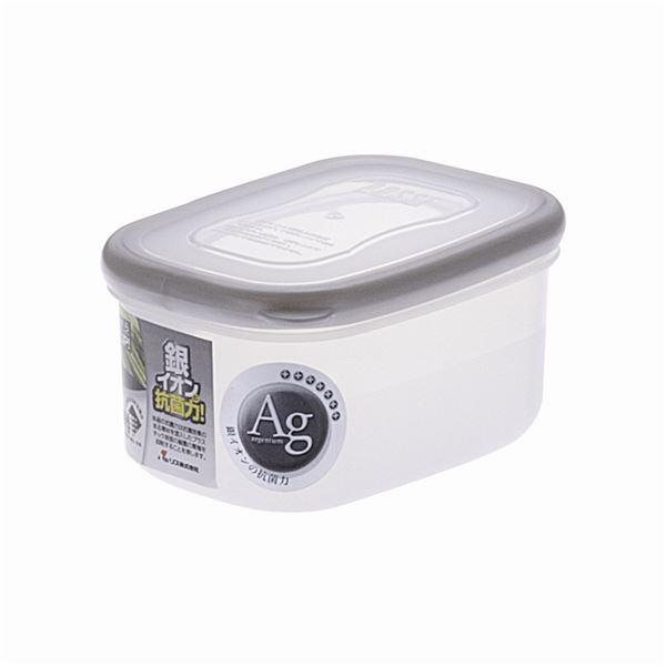 【100セット】 保存容器/パッセハード 【WA-1 シルバー】 外寸:7.7cm×10.7cm×5.6cm 本体:PP 〔キッチン用品 収納容器〕【代引不可】