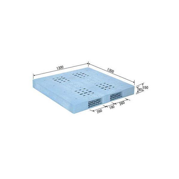 三甲(サンコー) プラスチックパレット/プラパレ 【両面使用型】 段積み可 R-1313F ライトブルー(青)【代引不可】