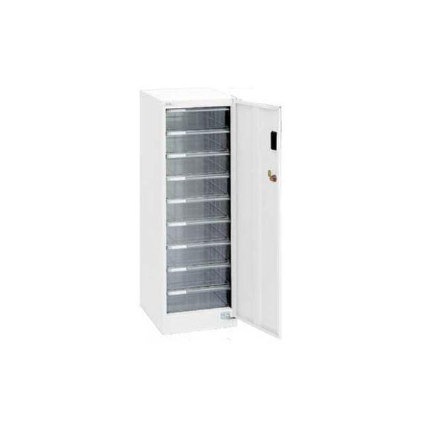アバンテV2 セキュリティフロアケース 書類ケース 書類棚 扉・鍵付 A4 深9段AF-SM9 ホワイト 収納ボックス 収納用品