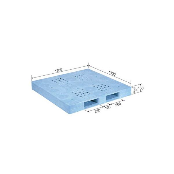 三甲(サンコー) プラスチックパレット/プラパレ 【片面使用型】 軽量 D-1313F ライトブルー(青)【代引不可】