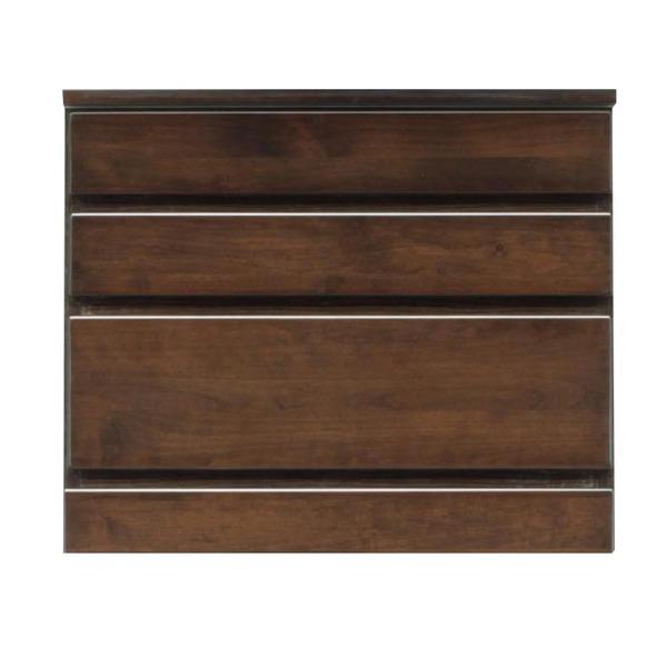 3段チェスト/ローチェスト 【幅60cm】 木製(天然木) 日本製 ダークブラウン 【完成品 開梱設置】【代引不可】