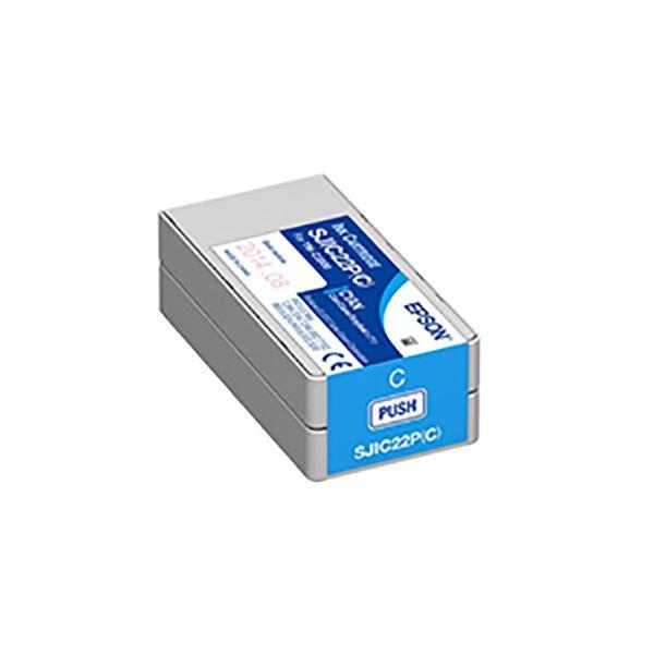 (業務用5セット) 【純正品】 EPSON エプソン インクカートリッジ 【SJIC22PC シアン】