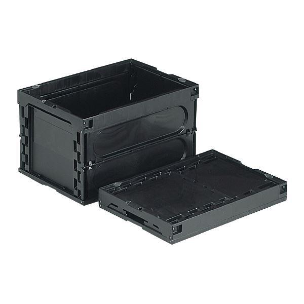 三甲(サンコー) 折りたたみコンテナボックス/オリコン 導電 50B-M ブラック(黒) 【フタ別売り】【代引不可】