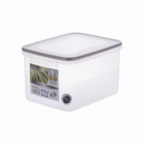【20セット】 保存容器/パッセハード 【WJ-2 シルバー】 外寸:19cm×26.2cm×15cm 本体:PP 〔キッチン用品 収納容器〕【代引不可】