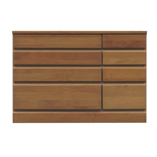 4段チェスト/ローチェスト 【幅90cm】 木製(天然木) 日本製 ブラウン 【完成品 開梱設置】【代引不可】