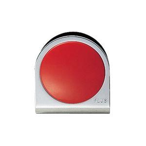 (業務用100セット) プラス カラーマグネット クリップ 大 赤