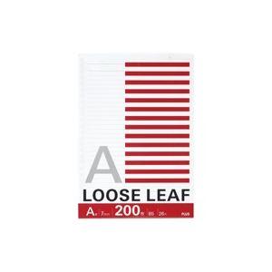 (業務用100セット) プラス ルーズリーフ NL-200A B5 26穴 A罫 200枚