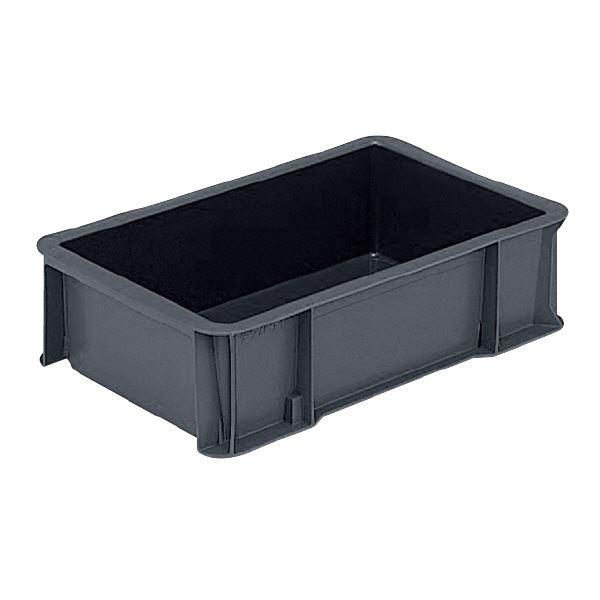 (業務用10個セット)三甲(サンコー) 導電性コンテナボックス/テンバコ 【11L】 段積み可 ED-12 ブラック(黒) 【代引不可】