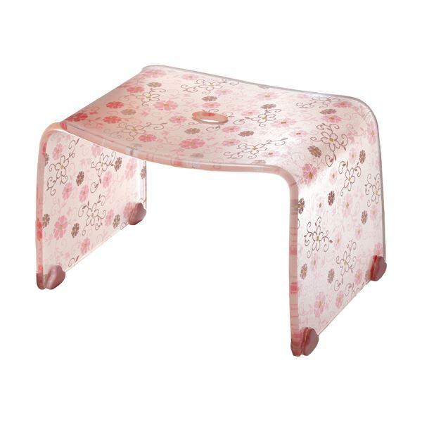 【4セット】 ロマンチック バスチェア/風呂椅子 【Sサイズ コーラルピンク】 脚ゴム付き 『フィルロ シュシュ』【代引不可】