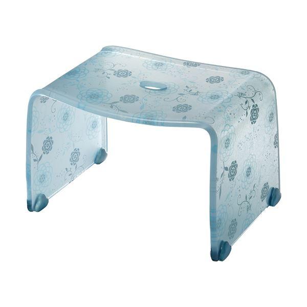 【4セット】 ロマンチック バスチェア/風呂椅子 【Sサイズ ペールブルー】 脚ゴム付き 『フィルロ シュシュ』【代引不可】