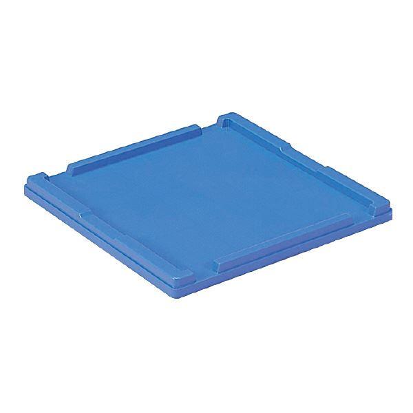 (業務用20個セット)三甲(サンコー) 折りたたみコンテナボックス/オリコン用蓋 単品 38B-2 ブルー(青) 【代引不可】