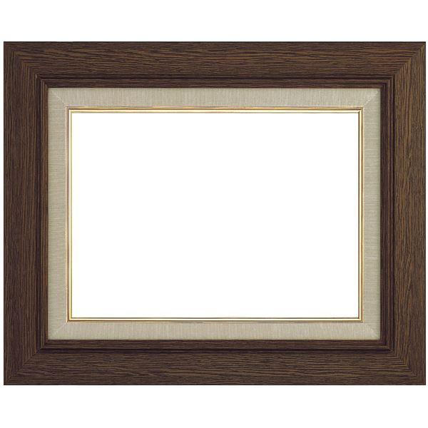 シンプル仕様 油絵額縁/油彩額縁 【P20 ブラウン】 表面カバー:アクリル 木製