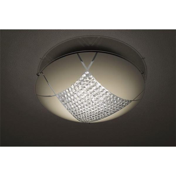 シーリングライト(照明器具) LEDタイプ/18W 自然光色 ガラス使用 円形 〔リビング照明/ダイニング照明〕【電球付き】【代引不可】